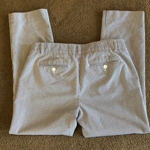 Striped GAP Slim cropped pants